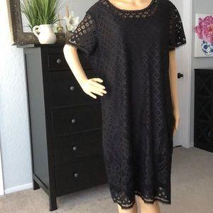 Black Lace Dress by Isaac Mizrahi Live